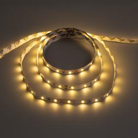 Светодиодная лента URM, 60 LED/м, 4.8 Вт/м, 12В, 8-10 Лм, IP22, 3000К, 5 м