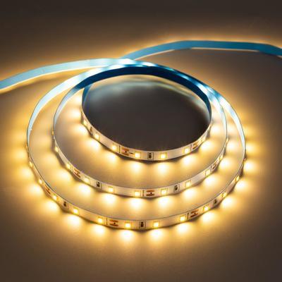 Светодиодная лента URM, 60 LED/м, 4.8 Вт/м, 12В, 18-20 Лм, IP22, 3000К, 5 м