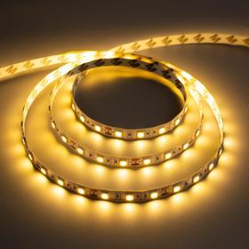 Светодиодная лента URM, 5050, 60 LED/м, 14.4 Вт/м, 12В, 18-20 Лм, IP22, 3000К, 5 м