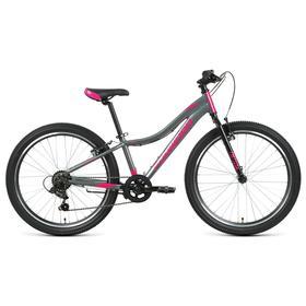 "Велосипед 24"" Forward Jade 1.0, цвет серый/розовый, размер 12"""
