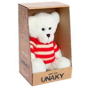 Мягкая игрушка «Медвежонок Кавьяр в свитере «, 18 см
