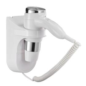 Фен Puff-1600, настенный, 1600 Вт, белый