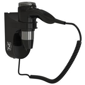 Фен Puff-1600Вl, настенный, 1600 Вт, чёрный