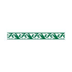 Декоративный элемент «Агава», шаг узора 200 мм, 10,4 × 200 см, зелёная мята, RAL 6029 Ош