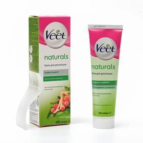 Крем для депиляции Veet.Naturals с маслом виноградной косточки, 100 мл