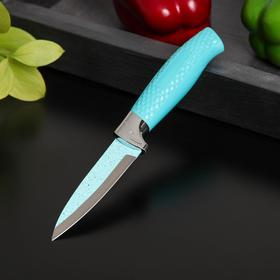 Нож Доляна Lаzurа, овощной, лезвие 8,5 см, цвет бирюзовый