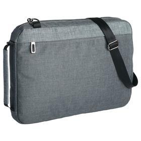 Конференц-сумка 2 в 1 twoFold серая с темно-серым, 34x24x4 см