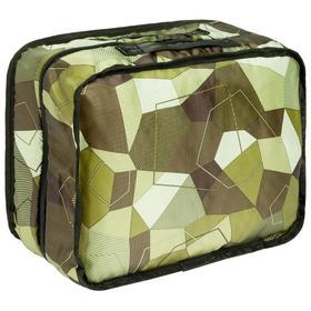 Несессер складной Gekko хаки, в слож.виде: 16,5x12,5х2,5 мм; в разлож. 27,5x21,5x13 см