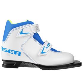 Ботинки лыжные TREK Laser NN75 ИК, цвет белый, лого синий, размер 37