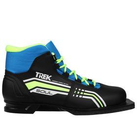 Ботинки лыжные TREK Soul IK NN75, цвет чёрный, лайм неон, размер 36 Ош