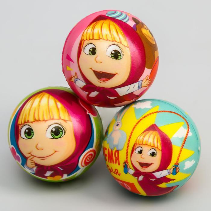 "Мягкий мяч ""Маша"" Маша и Медведь 6,3см, микс"