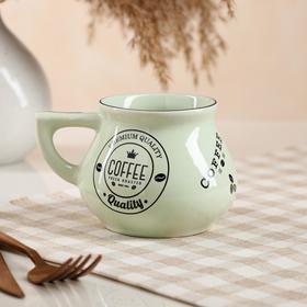 """Чашка """"Инжир"""", ментол, чёрная деколь кофе, 0.3 л, микс"""