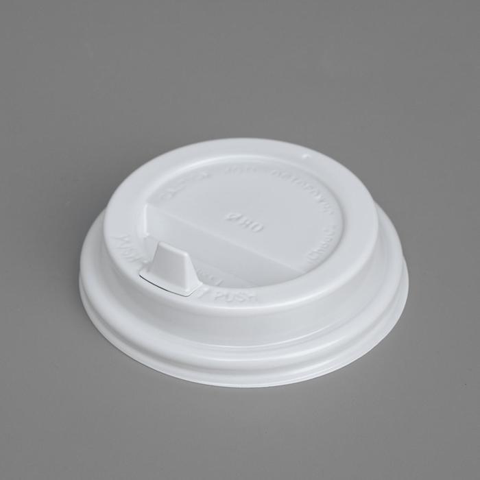 Крышка для стакана Белая клапан, диаметр 80 мм