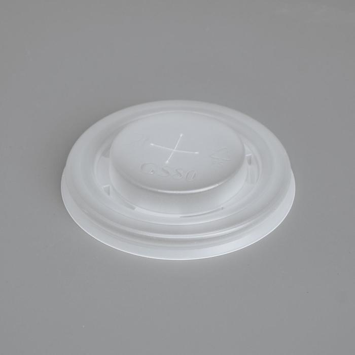 Крышка для стакана Прозрачная отверстие под трубочку, диаметр 80 мм