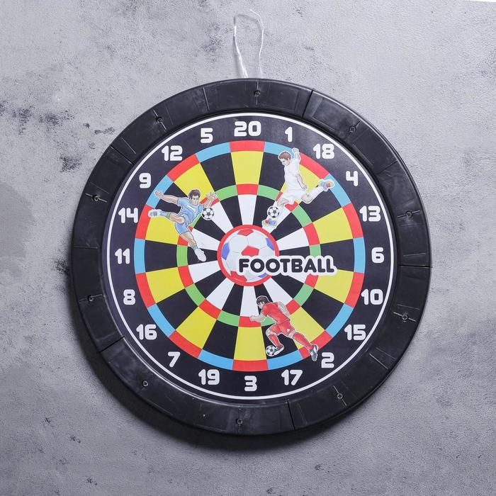 "Дартс круглый ""Футбол"", d=43 см, 3 дротика"