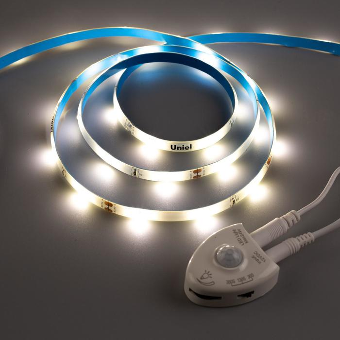 Комплект светодиодной ленты Uniel, 30 LED/м, 4.8 Вт/м, 220 В, IP65, 4000К, 1.2 м, DIM