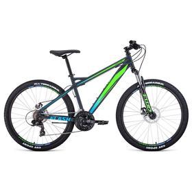 "Велосипед 26"" Forward Flash 2.2 disc, цвет серый матовый/ярко-зеленый, размер 17"""
