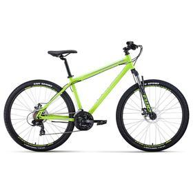 """Велосипед 27,5"""" Forward Sporting 2.2 disc, цвет ярко-зеленый/серый, размер 17"""""""