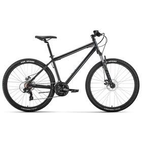 "Велосипед 27,5"" Forward Sporting 2.2 disc, цвет темно-серый/черный, размер 19"""