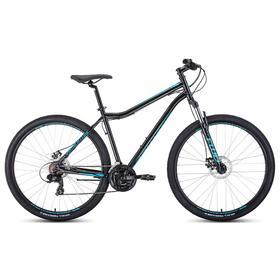 """Велосипед 29"""" Forward Sporting 2.2 disc, цвет черный/бирюзовый, размер 17"""""""
