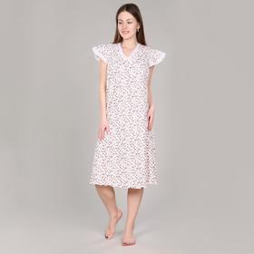 Сорочка женская, цвет молочный, размер 48