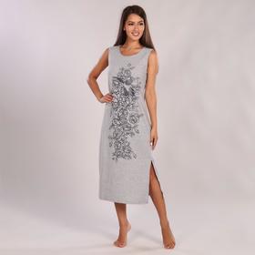 Платье женское, цвет тёмно-серый, размер 48
