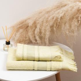 Комплект махровых полотенец в коробке Gulan 50х90 см, 70х130 см