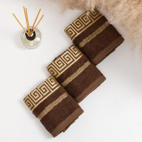 Комплект махровых полотенец в коробке Versace 30х50 см-3 шт