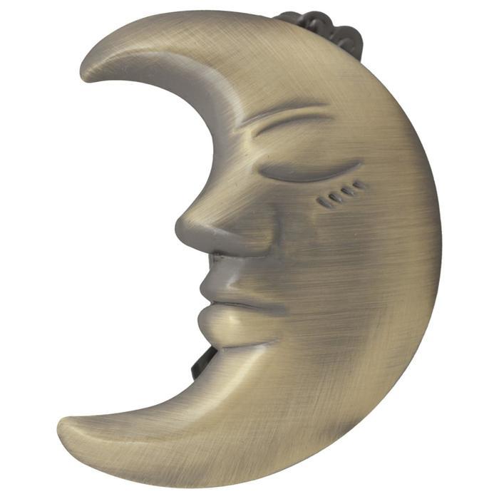 Клипса для штор на защёлке «Полумесяц», 70 × 55 мм, цвет бронзовый