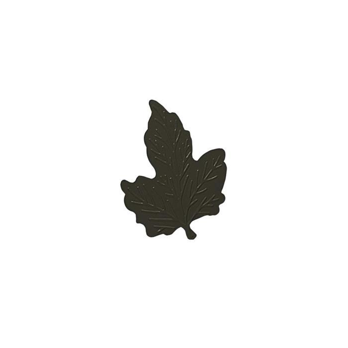 Клипса для штор на защёлке «Кленовый лист», цвет коричневый