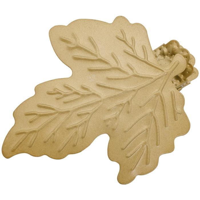 Клипса для штор на защёлке «Кленовый лист», цвет золото матовое