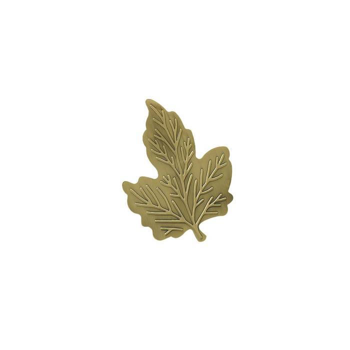 Клипса для штор на защёлке «Кленовый лист», цвет золото антик