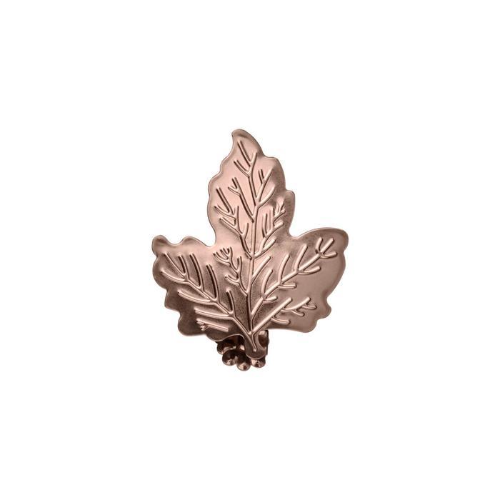 Клипса для штор на защёлке «Кленовый лист», цвет коньяк