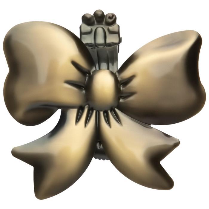 Клипса для штор на защёлке «Бант», цвет бронзовый