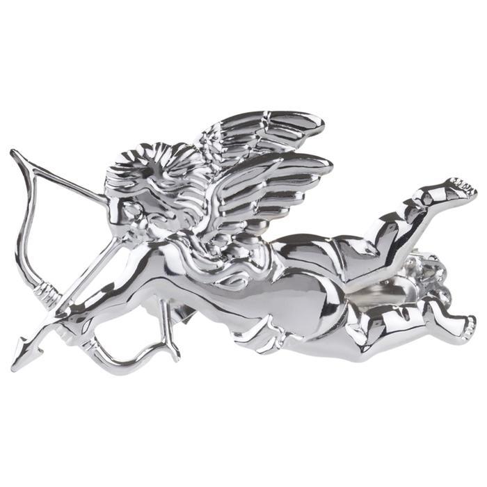 Клипса для штор на защёлке «Ангел», цвет серебряный