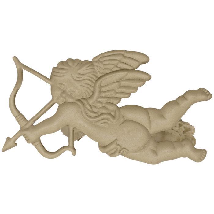 Клипса для штор на защёлке «Ангел», 85 × 85 мм, цвет бежевый