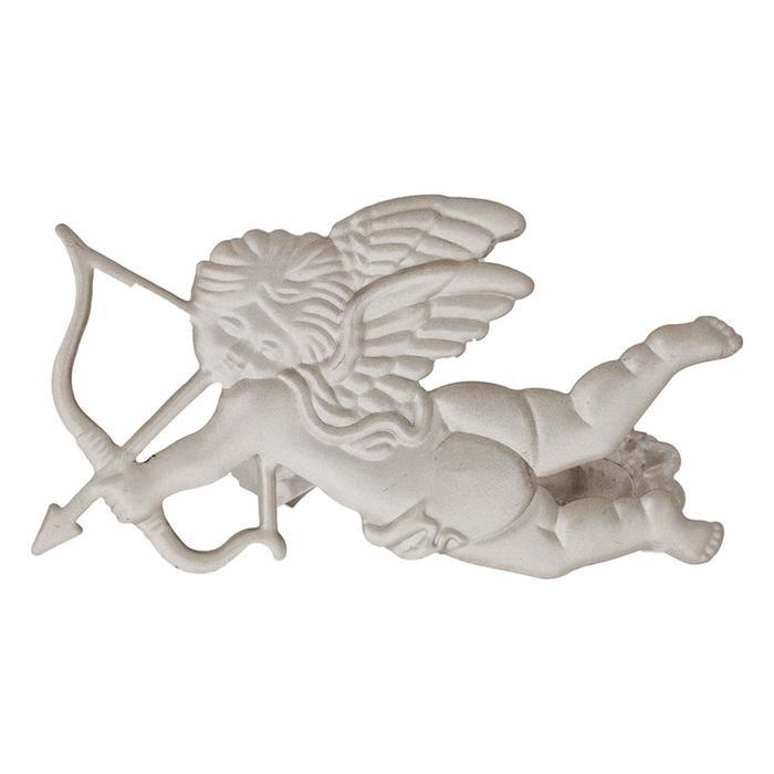 Клипса для штор на защёлке «Ангел», цвет сталь