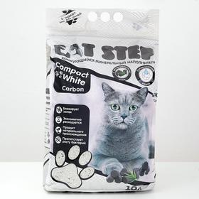 Наполнитель комкующийся минеральный CAT STEP Compact White Carbon, 10 л