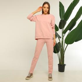 Джемпер женский, цвет розовый, размер 52