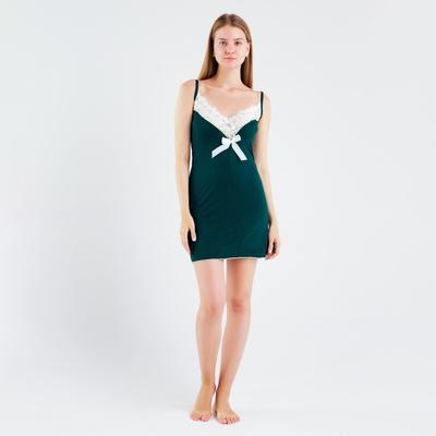 Сорочка женская, цвет изумруд, размер 42 - Фото 1