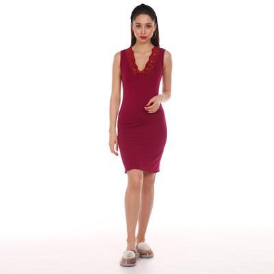 Сорочка женская, цвет бордовый, размер 46 - Фото 1