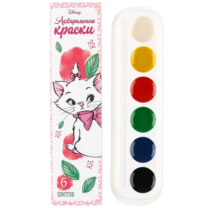 Акварель медовая «Кошечка Мари» Коты-аристократы, 6 цветов, в картонной коробке, без кисти