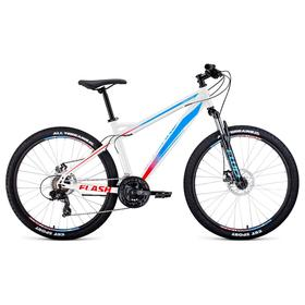 """Велосипед 26"""" Forward Flash 2.2 disc, цвет белый/голубой, размер 19"""""""