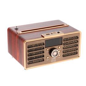 Портативная караоке система MAX MR362 Wood, 2х4.5ВТ, FM, USB, BT, 1200 мАч
