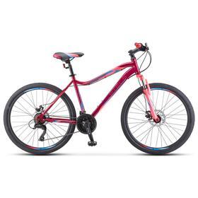 "Велосипед 26"" Stels Miss-5000 MD, K010, цвет вишнёвый/розовый, размер 18"""