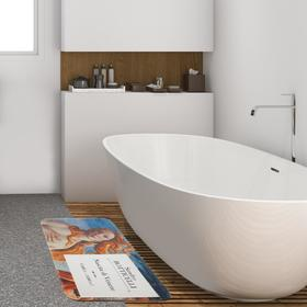 """Коврик для ванной Этель """"Ботичелли"""", 80х50 см, велюр"""