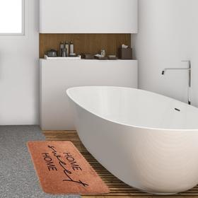 """Коврик для ванной Этель """"Home"""", 80х50 см, велюр"""