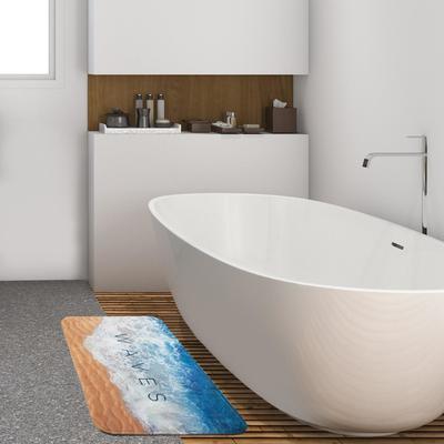 """Коврик для ванной Этель """"Waves"""", 80х50 см, велюр - Фото 1"""