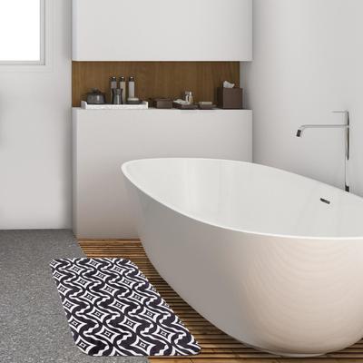 """Коврик для ванной Этель """"Узор"""", 80х50 см, велюр - Фото 1"""