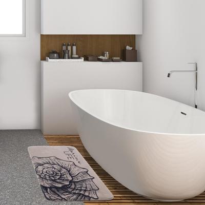 """Коврик для ванной Этель """"Marine life"""", 80х50 см, велюр - Фото 1"""